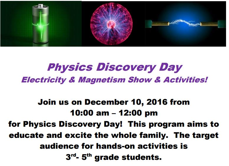 Physics Discovery Days